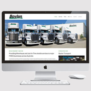 image of truck transport website