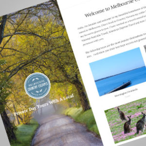 image of tourism brochure with provincial feel