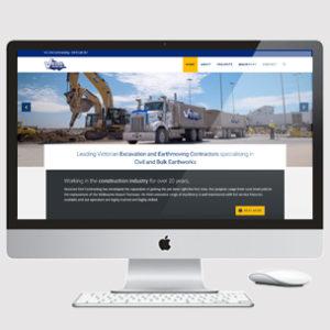 earthmoving website design