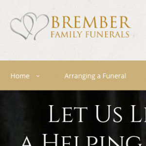 image of funeral home website design