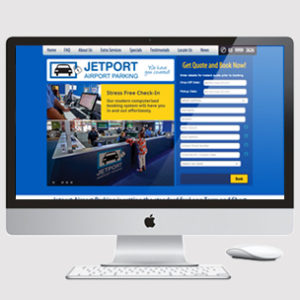 Image of parking website with booking features
