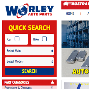 image of car parts website design